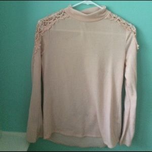 blish pink laced sweater